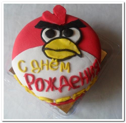 торт птичка